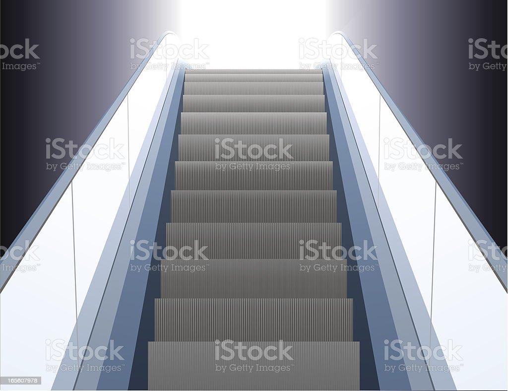 Escalator vector art illustration