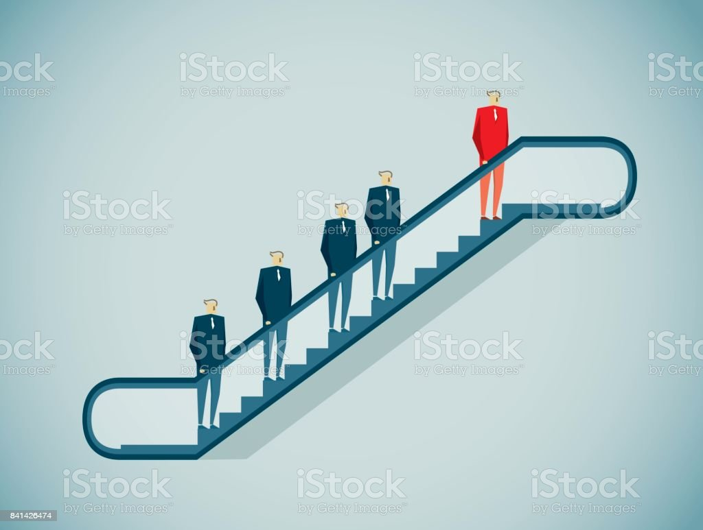Escalator vector art illustration