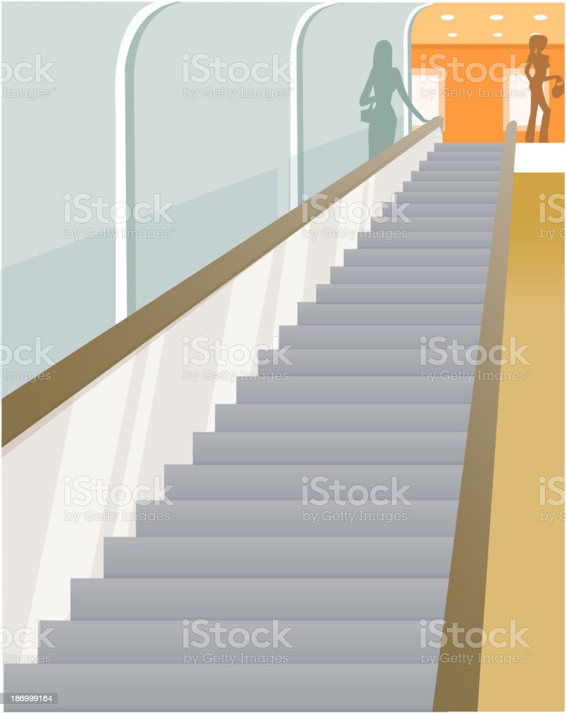 Escalator vision vector art illustration