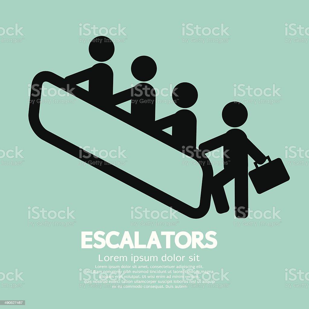 Escalators vector art illustration