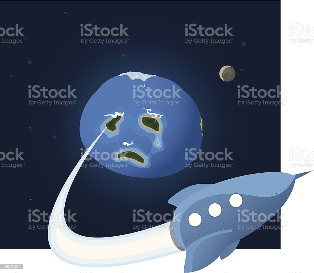 Escape from the blue planet royalty-free escape from the blue planet stock vector art & more images of beginnings