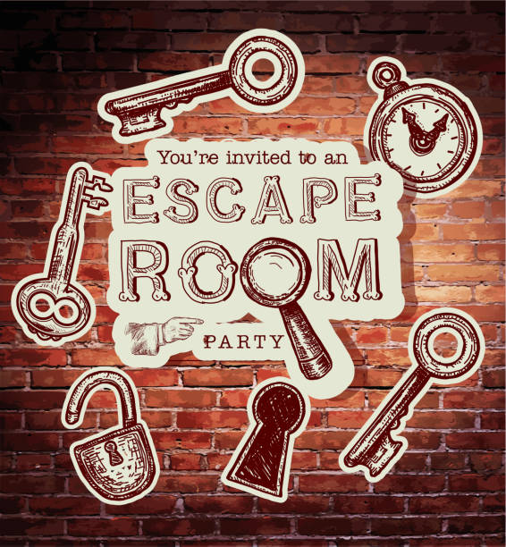Best Escape Room Illustrations Royalty Free Vector