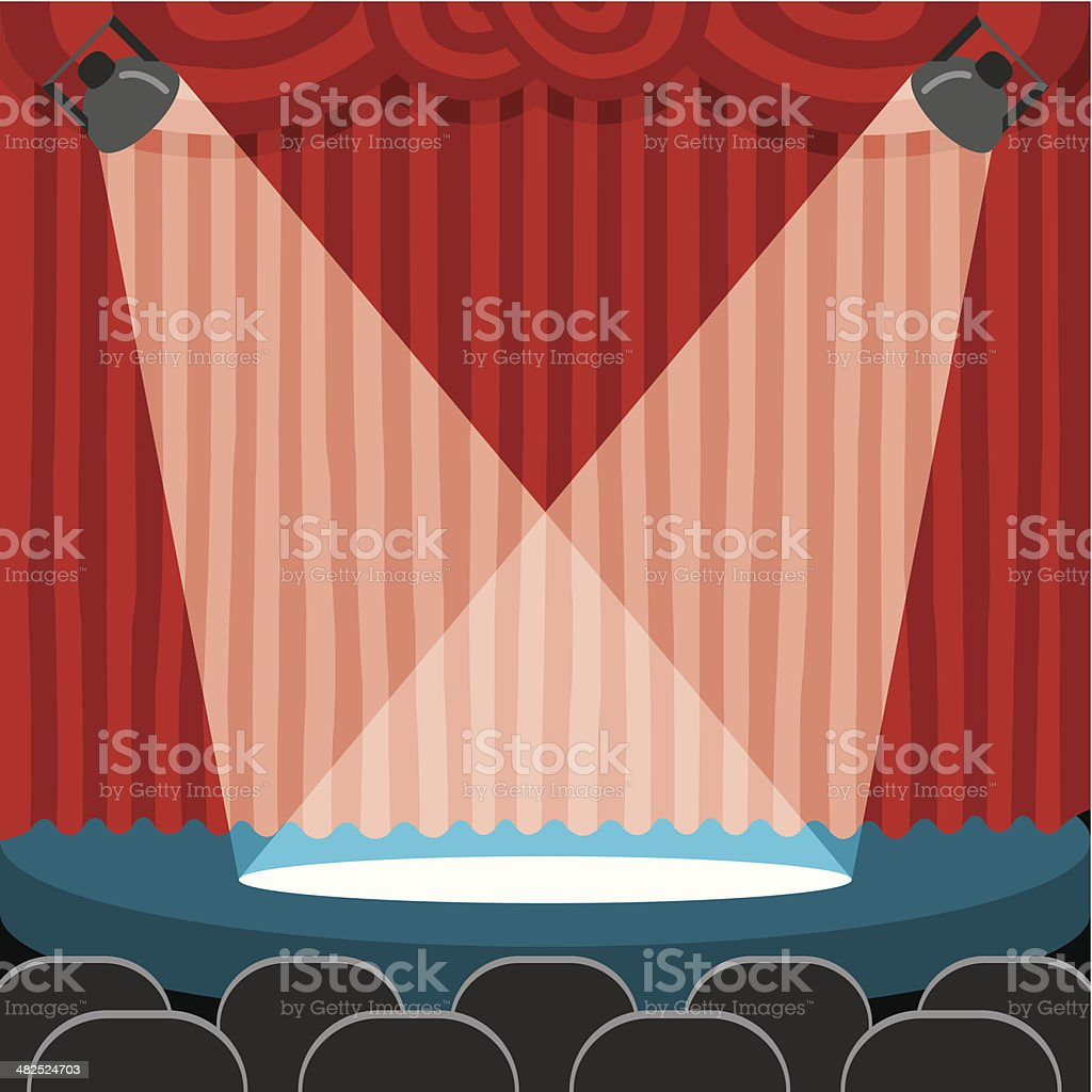 escenario vector art illustration