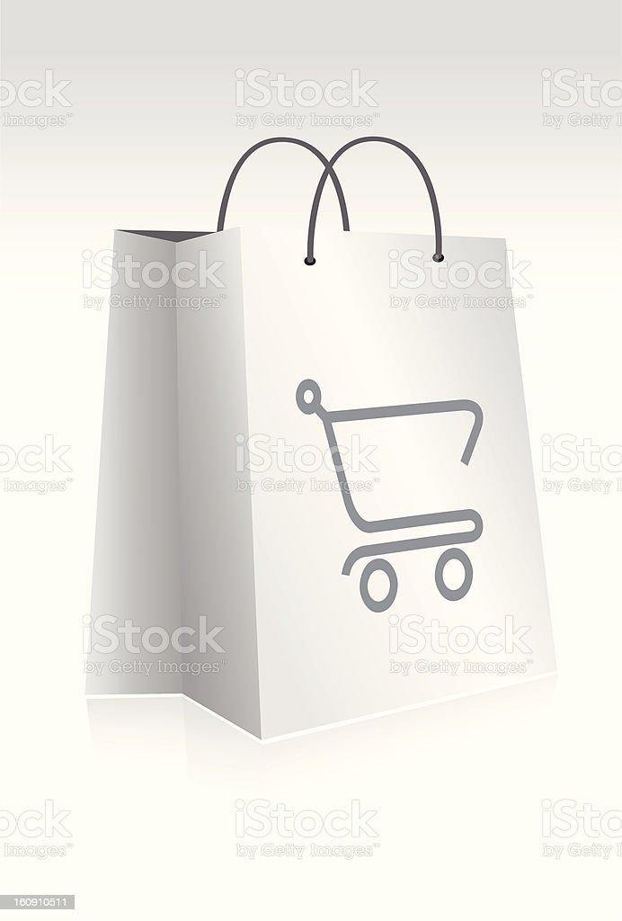 E-shop Bag royalty-free stock vector art