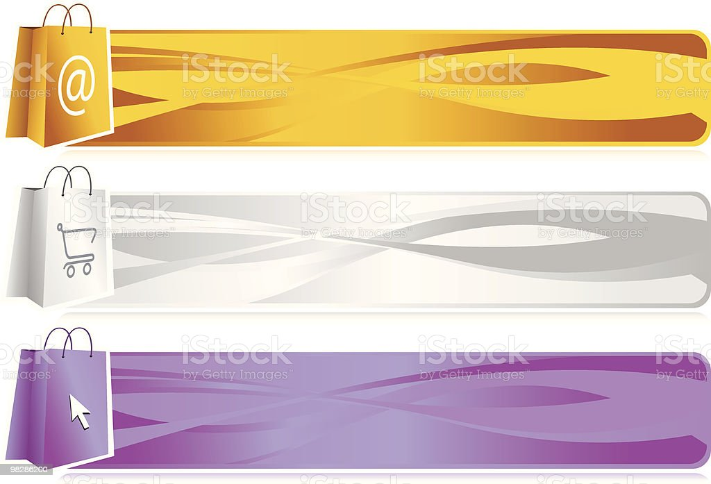 E-Shop Banner Bags royalty-free stock vector art