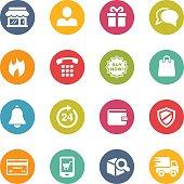 E-Shopping Icons // Fresh Colors Series
