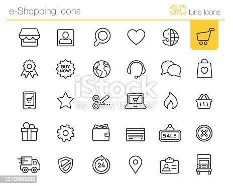E-Shopping Icons // Line Premium