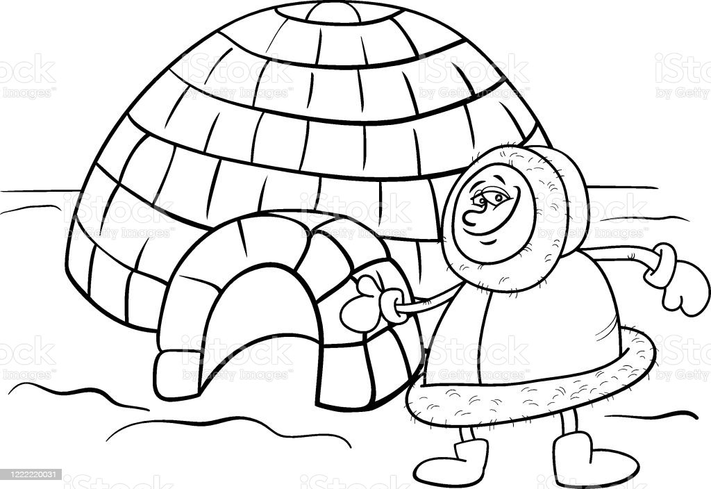 Igloo Coloring Page   Igloo craft, Penguin coloring pages, Penguin ...   704x1024