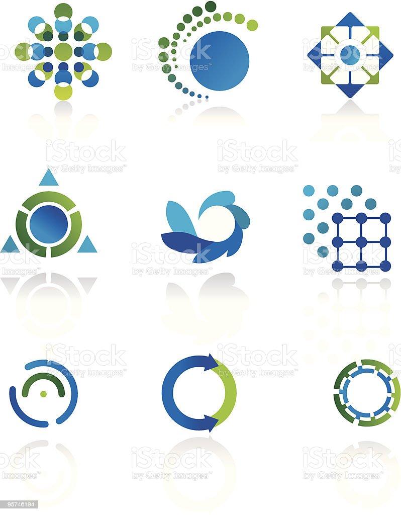 Esoteric icons created geometric symbols royalty-free stock vector art