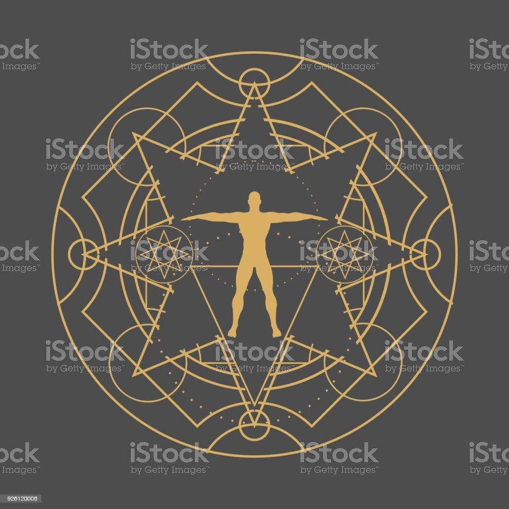 Símbolos místicos esotéricos - ilustración de arte vectorial