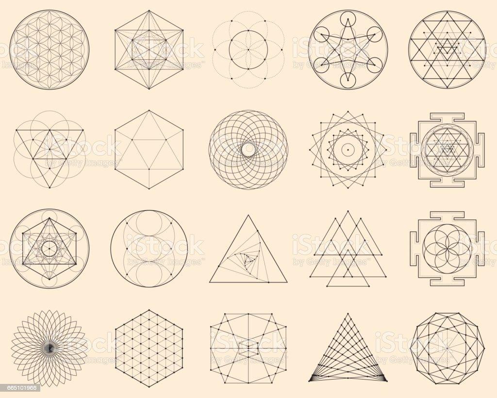 Geometria espiritual esotérica - Vetor de Abstrato royalty-free