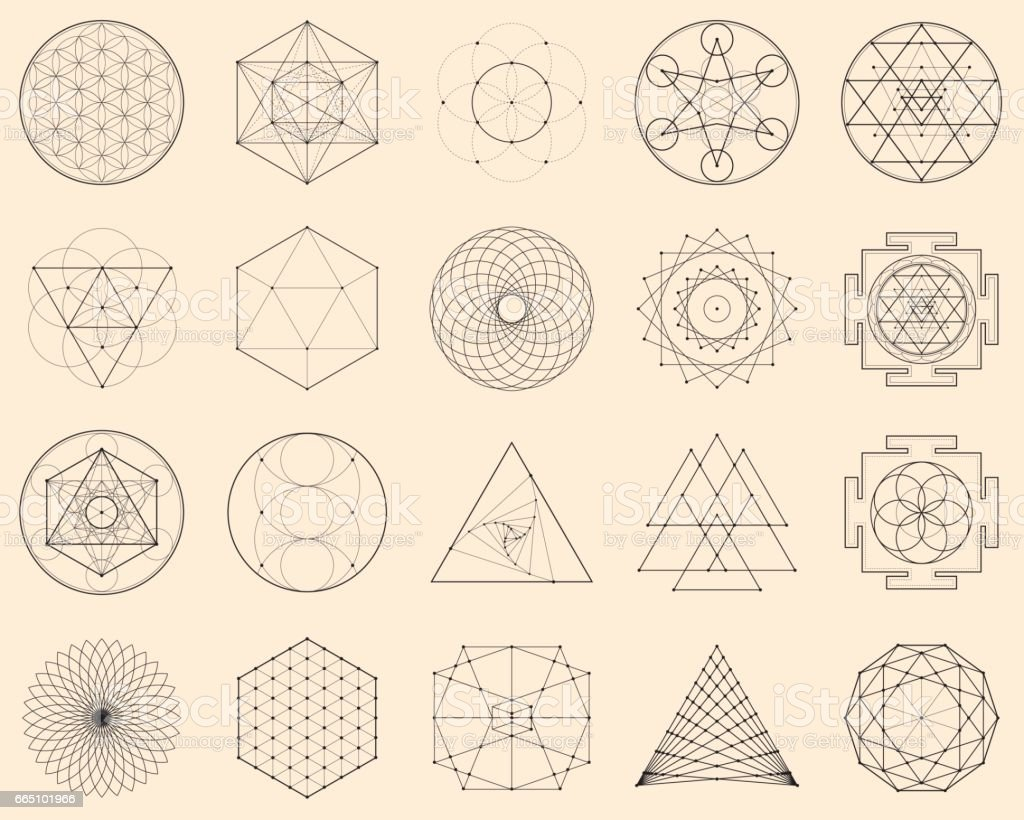 Esoteric Spiritual Geometry vector art illustration