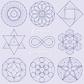 Vector Illustration with a set of perfect Esoteric Spiritual Geometry