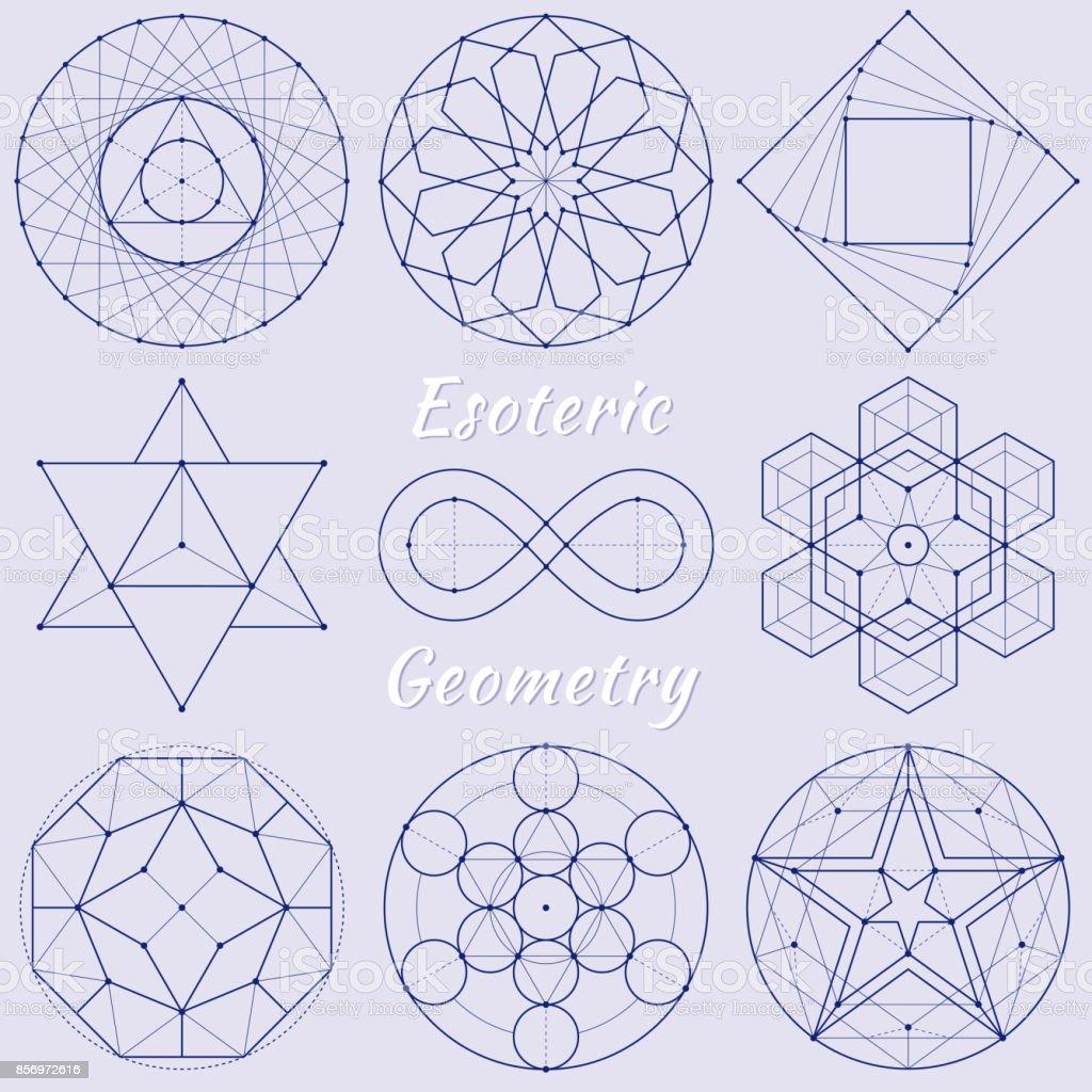 Geometria espiritual esotérica - ilustração de arte em vetor