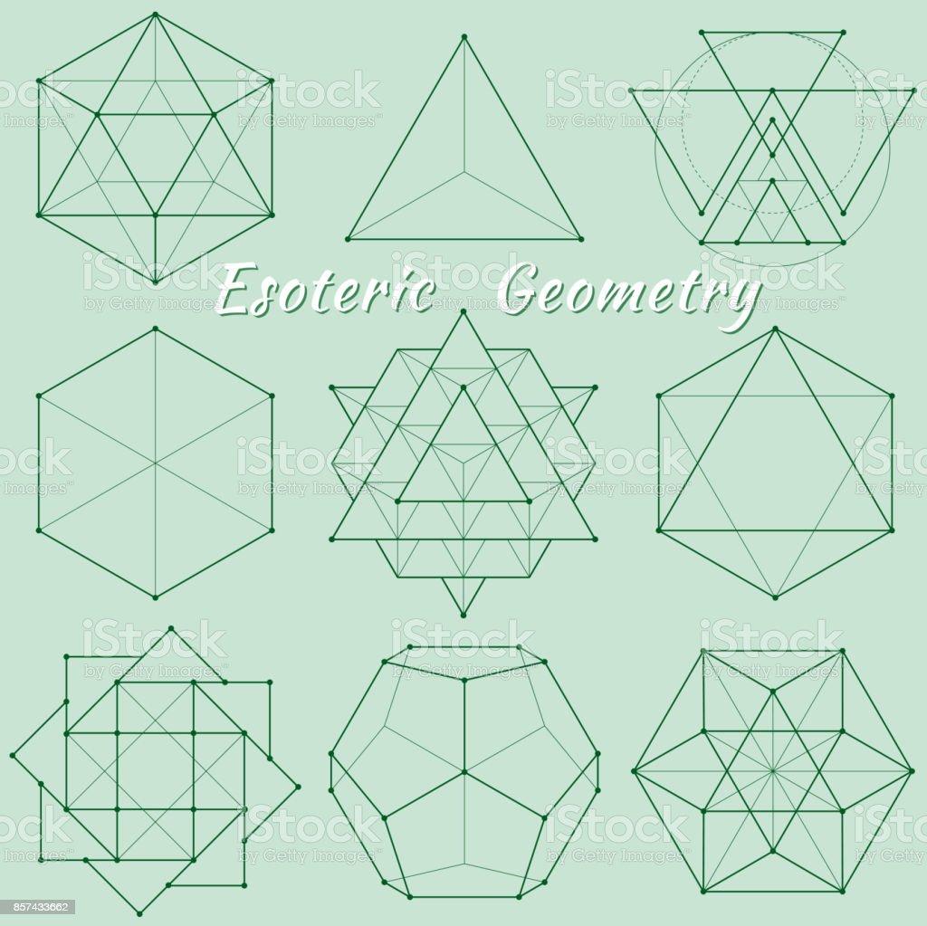 Esoteric Spiritual Geometry vector art illustration