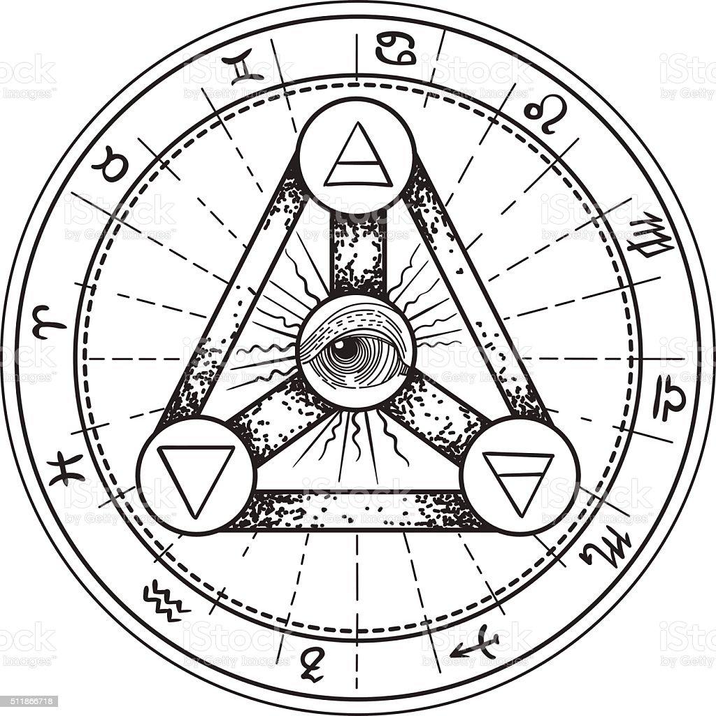 Esoteric symbols stock vector art more images of alchemy - Symbole de protection ...