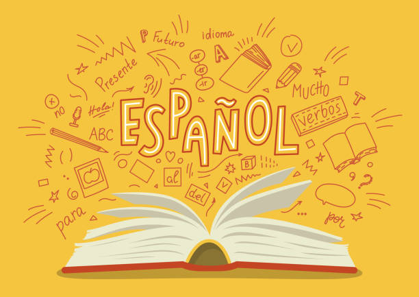 espanol. - language class stock illustrations