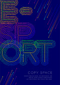E-sport big text dot and dash line pattern layer overlay, Poster banner or flyer template layout design illustration isolated on blue background with copy space, vector eps10