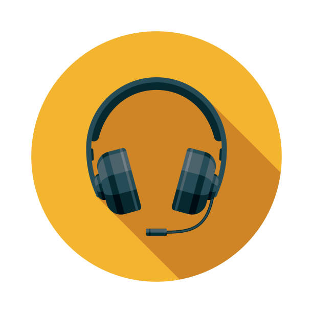 eスポーツ ゲーミング ヘッドセット アイコン - ゲーム ヘッドフォン点のイラスト素材/クリップアート素材/マンガ素材/アイコン素材