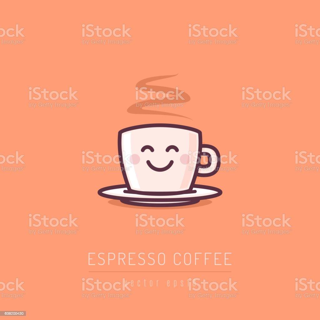 Espresso Coffee vector art illustration
