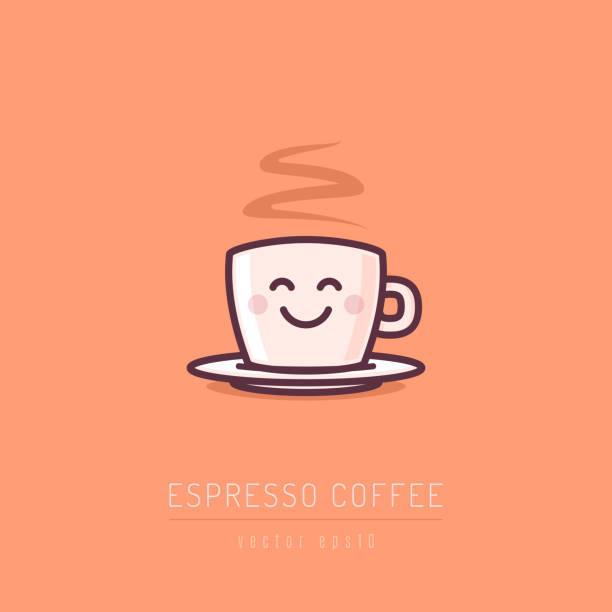 bildbanksillustrationer, clip art samt tecknat material och ikoner med espresso coffee - kaffekopp