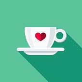 istock Espresso Cup Flat Design Coffee & Tea Icon 911936818