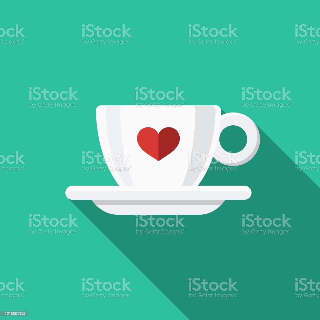 Espresso Flat Design Breakfast Icon vector art illustration