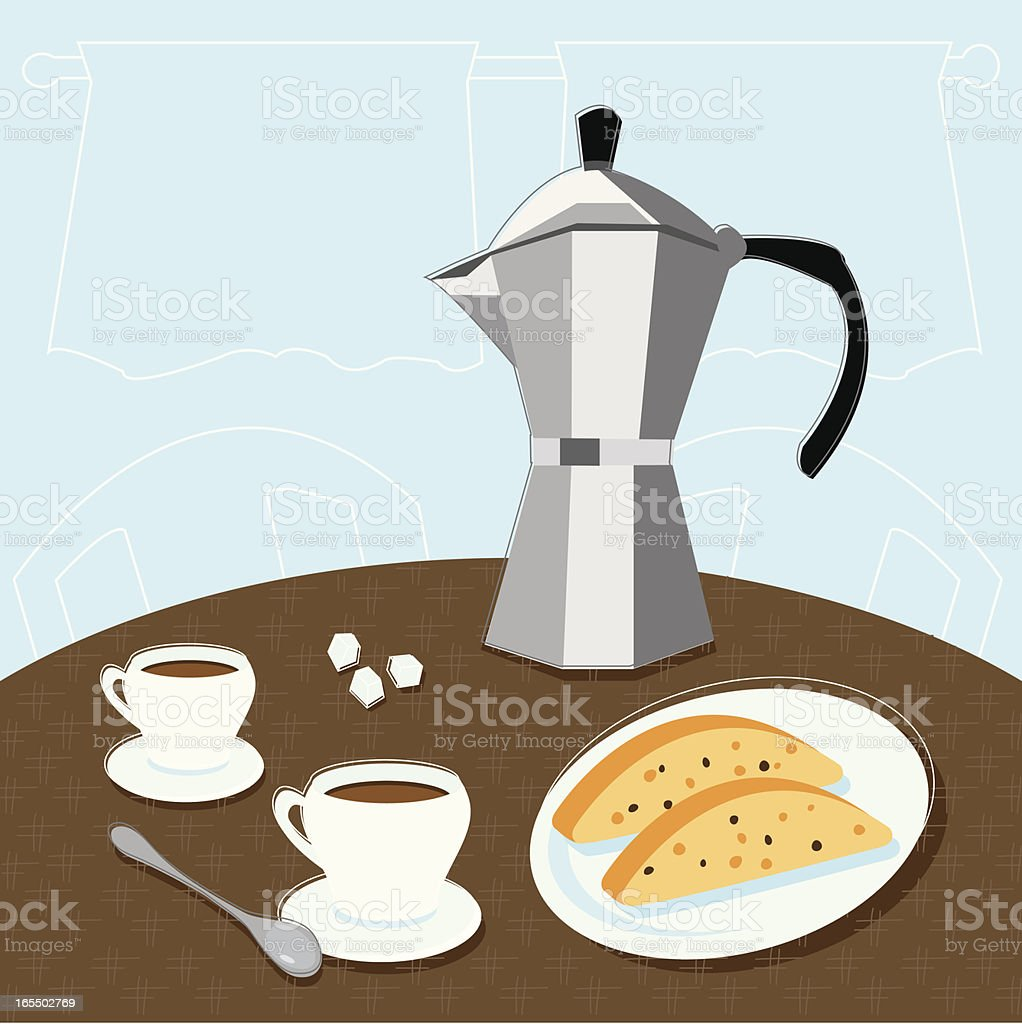 Espresso for Two vector art illustration