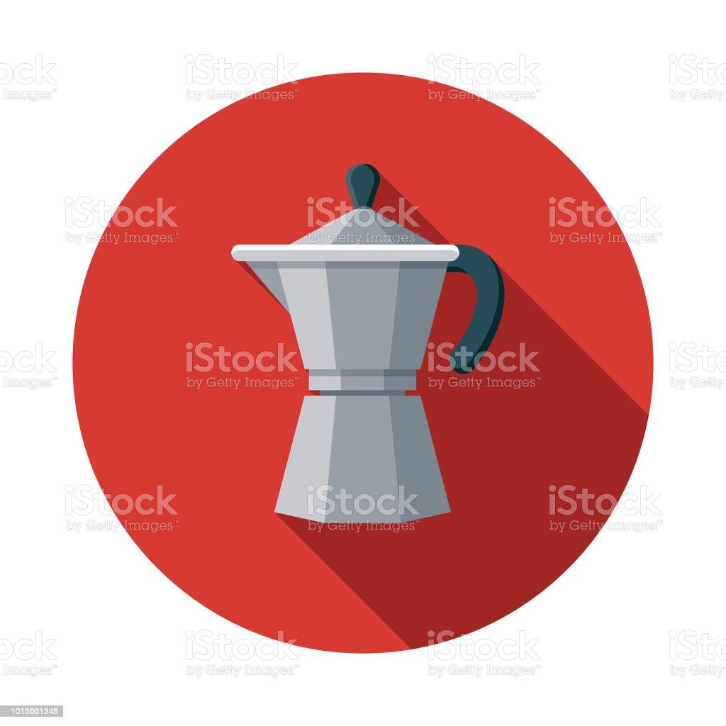Espresso Maker Flat Design Breakfast Icon vector art illustration
