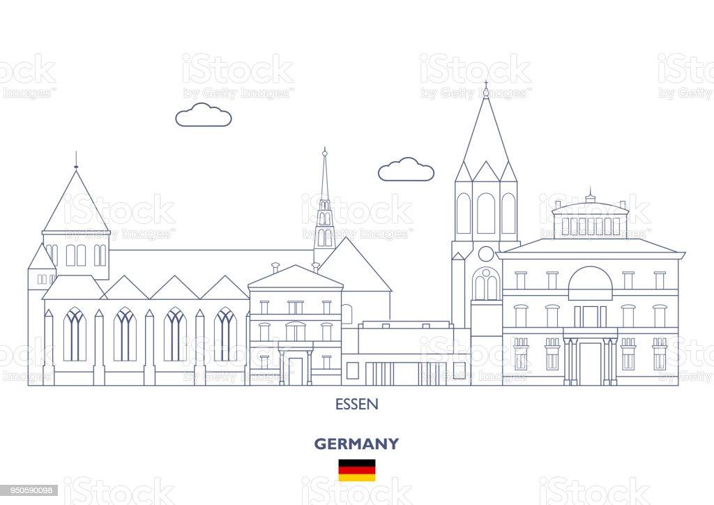 Essen City Skyline, Germany