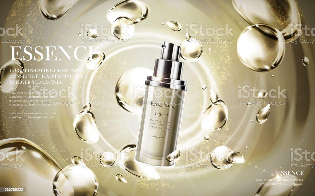 essence skin care produc vector art illustration