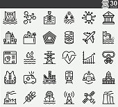 Essential Critical Infrastructure Workers Line Icons