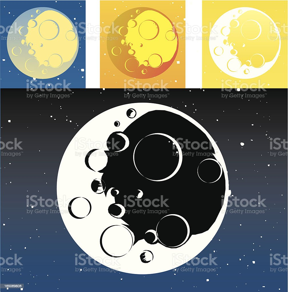 Essential Moon royalty-free stock vector art