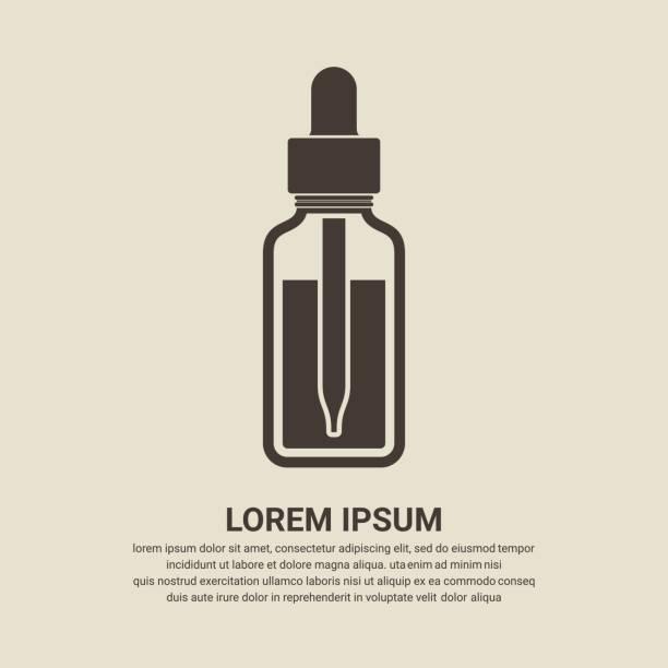 Essential oil bottle icon, Dropper bottle icon Essential oil bottle icon, Dropper bottle icon tincture stock illustrations
