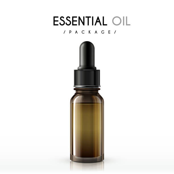 essential oil package essential oil package isolated on white background tincture stock illustrations