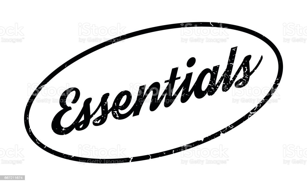 Essentials rubber stamp royalty-free essentials rubber stamp stock vector art & more images of constituency