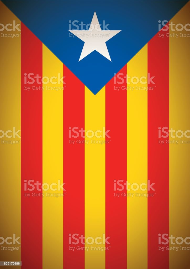 estelada blava banner flag background catalonia independence secession - Векторная графика Catalan Independence Movement роялти-фри