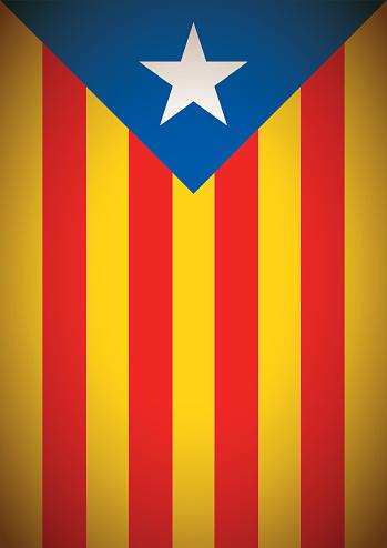 Estelada Blava Banner Flag Background Catalonia Independence Secession — стоковая векторная графика и другие изображения на тему Catalan Independence Movement