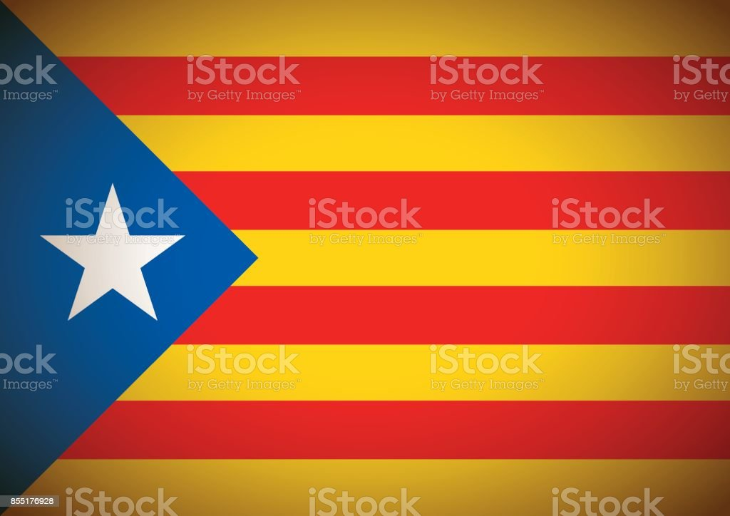 estelada blava flag background catalonia independentism referendum - Векторная графика Catalan Independence Movement роялти-фри