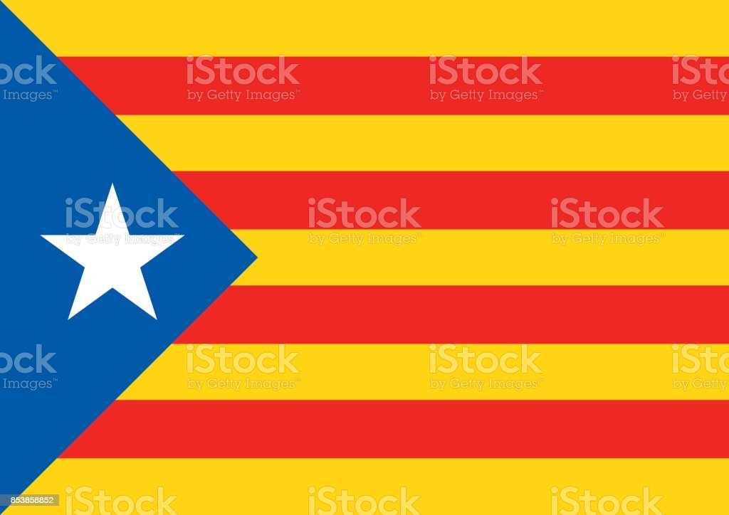 estelada blava flag background catalonia referendum - Векторная графика Catalan Independence Movement роялти-фри