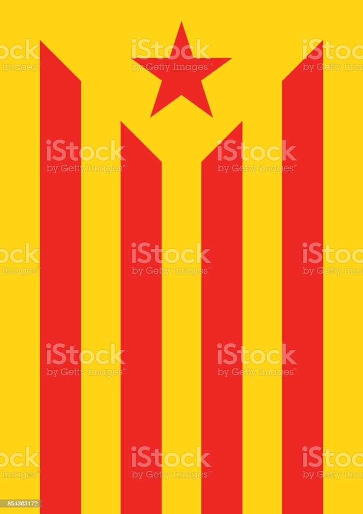 estelada vermella banner flag background catalonia independence - Векторная графика Catalan Independence Movement роялти-фри