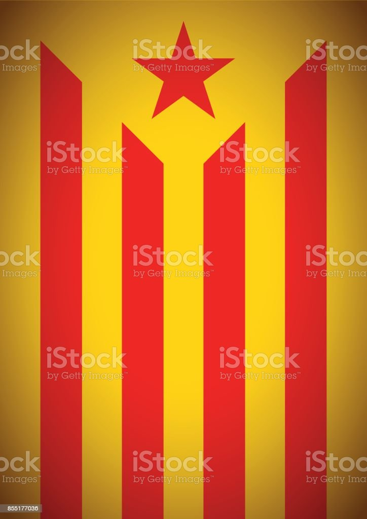 estelada vermella banner flag background catalonia independence secession - Векторная графика Catalan Independence Movement роялти-фри