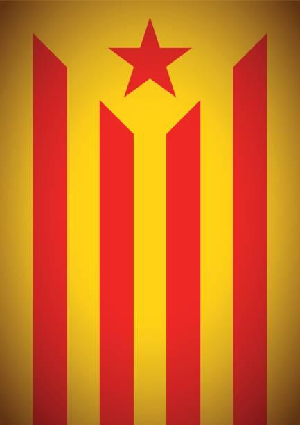 estelada vermella bayrak bayrak catalonia bağımsızlık secession arka plan - lleida stock illustrations