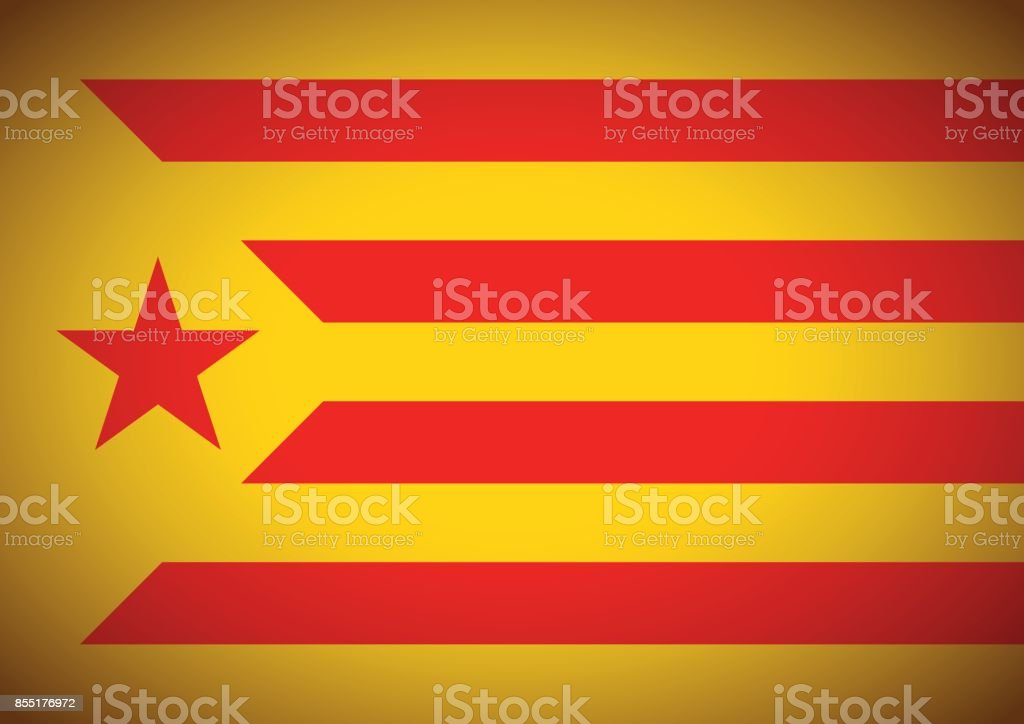 estelada vermella flag background catalonia independentism referendum - Векторная графика Catalan Independence Movement роялти-фри