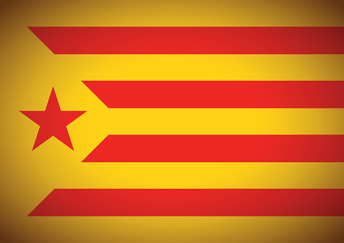 Estelada Vermella Flag Background Catalonia Independentism Referendum — стоковая векторная графика и другие изображения на тему Catalan Independence Movement