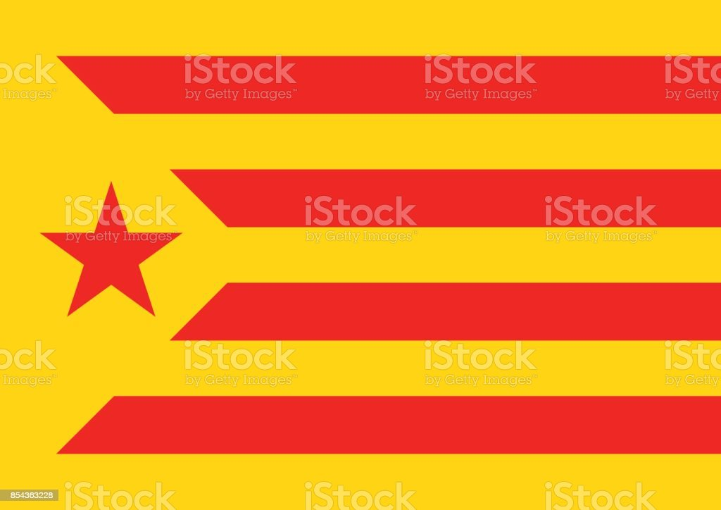 estelada vermella flag background catalonia referendum - Векторная графика Catalan Independence Movement роялти-фри