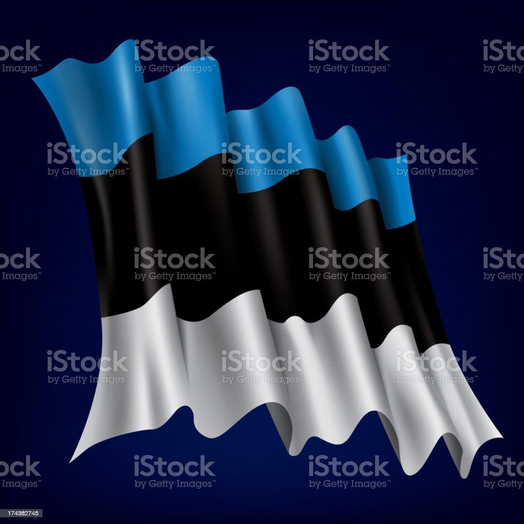 Estonia, Estonian Flag royalty-free stock vector art