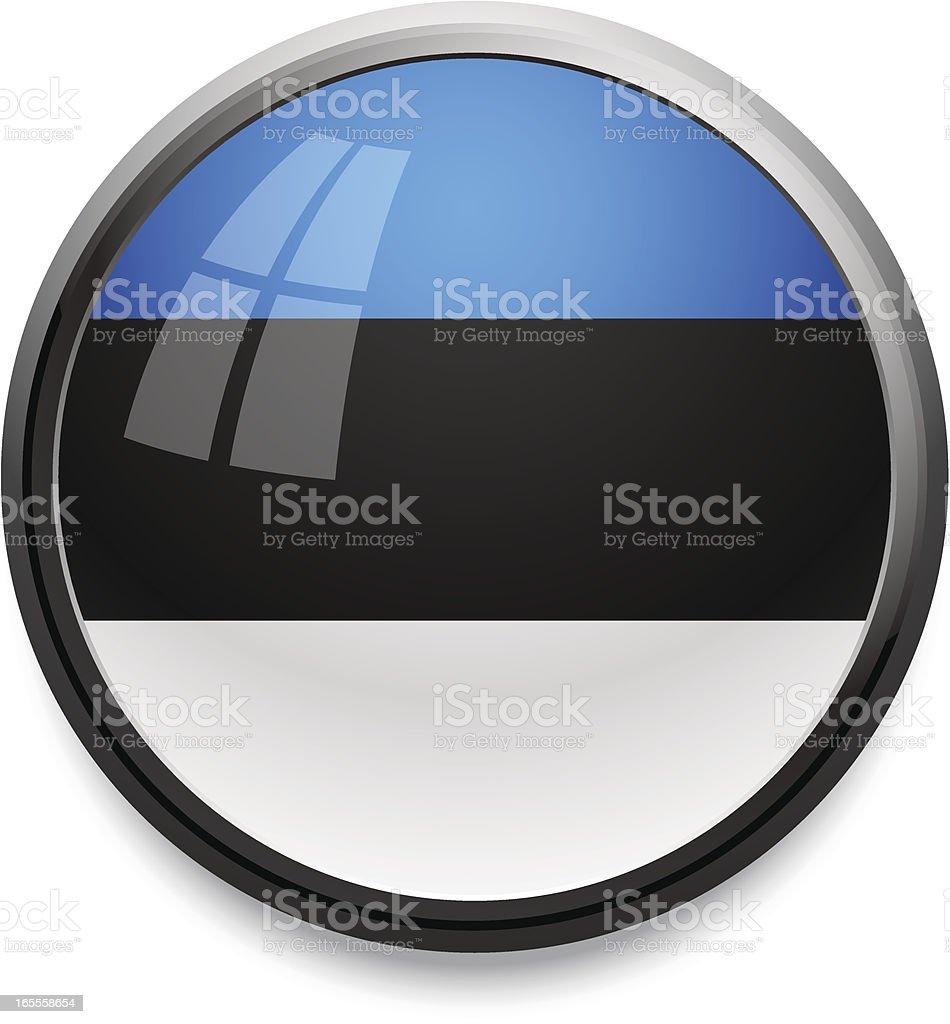 Estonia - flag icon royalty-free stock vector art
