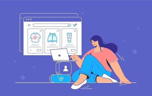 E-store and e-commerce website for shopping online