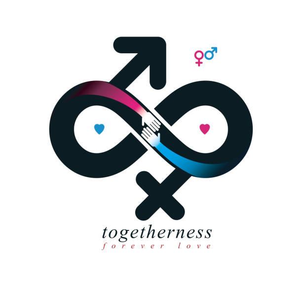 Royalty Free Infinity Love Gender Symbols Clip Art Vector Images